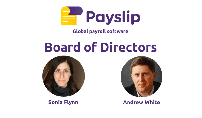 Sonia Flynn and Andrew White join Board of Directors of Payslip